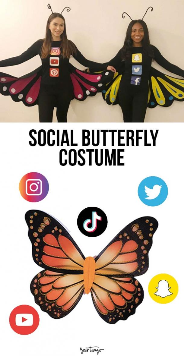 social butterfly last minute halloween costumes