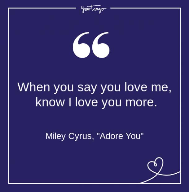 Miley Cyrus Song Quote From Lyrics About Love