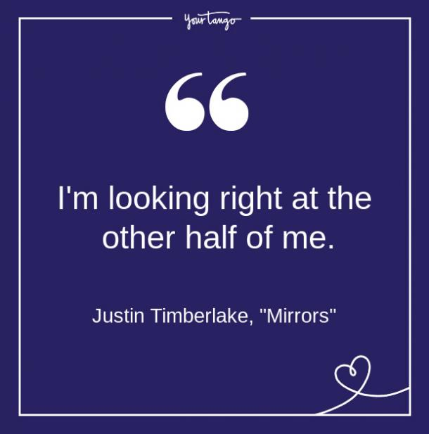 Justin Timberlake Song Quote From Lyrics About Love