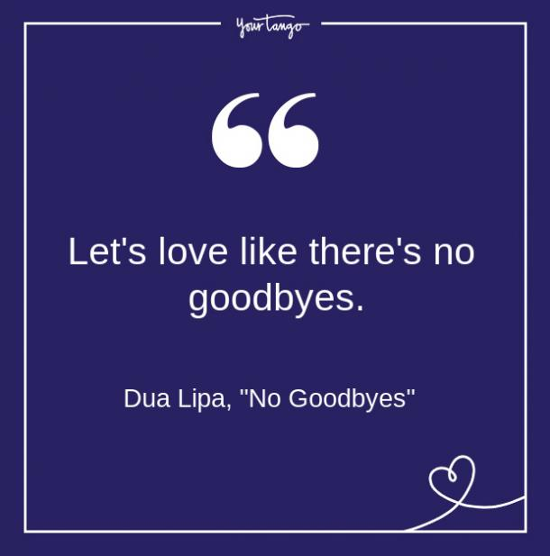 Dua Lipa Song Quote From Lyrics About Love