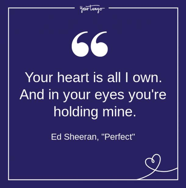 Ed Sheeran Song Quote From Lyrics About Love