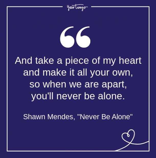 Shawn Mendes Song Quote From Lyrics About Love