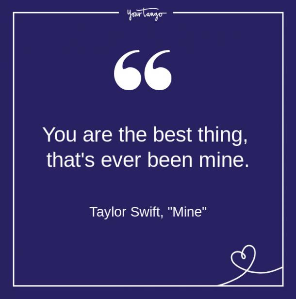 Taylor Swift Song Quote From Lyrics About Love