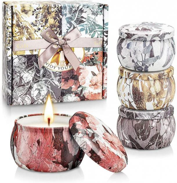 Handmade Soy Candles with Essential Oils Gift Set mothers day gift for girlfriend