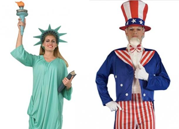 statue of liberty and uncle sam couples costume