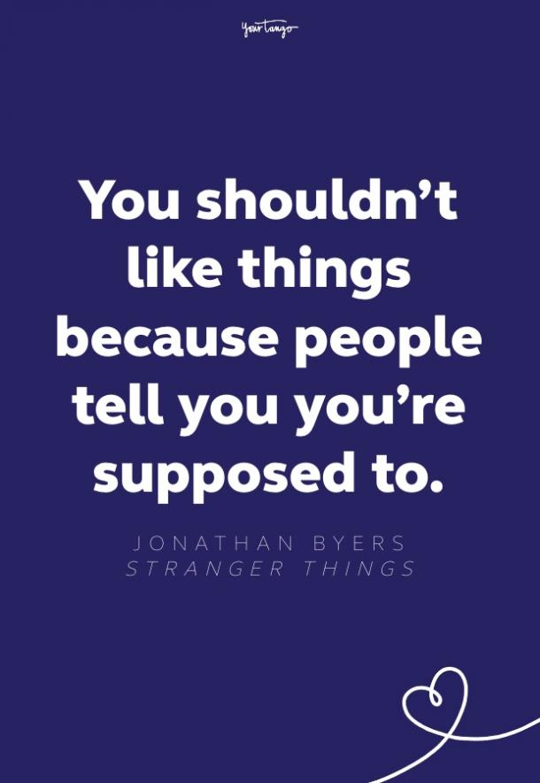 jonathan byers stranger things quote