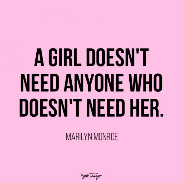 Marilyn Monroe independent woman quote