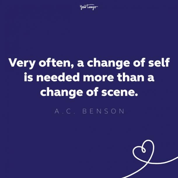 ac benson quote about success