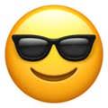 face with sunglasses emoji