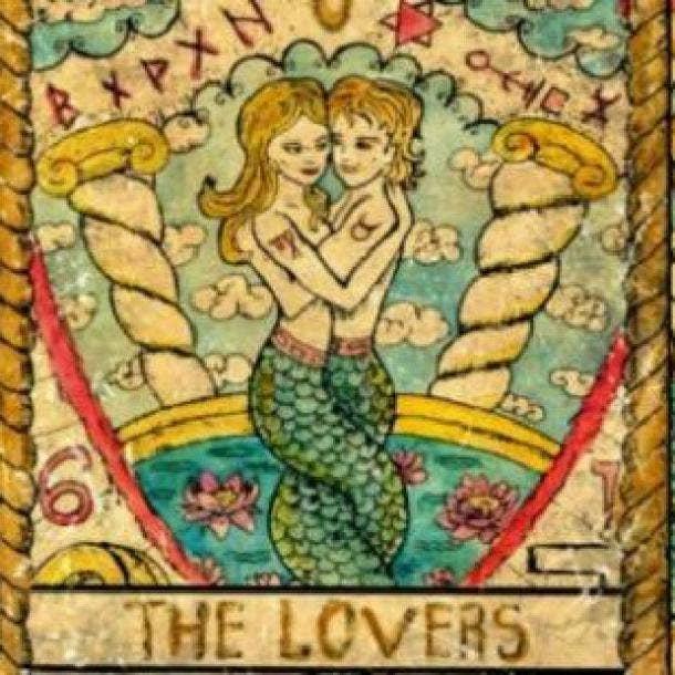 lovers tarot card symbol of love