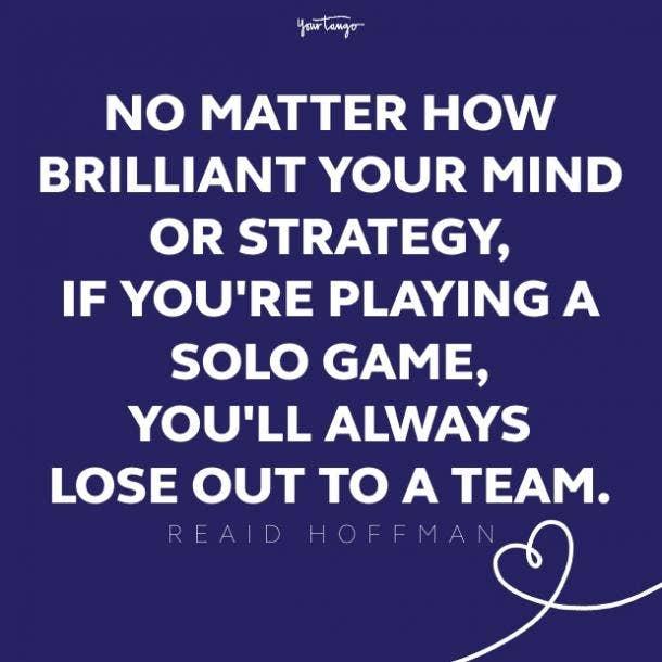 reaid hoffman teamwork quote