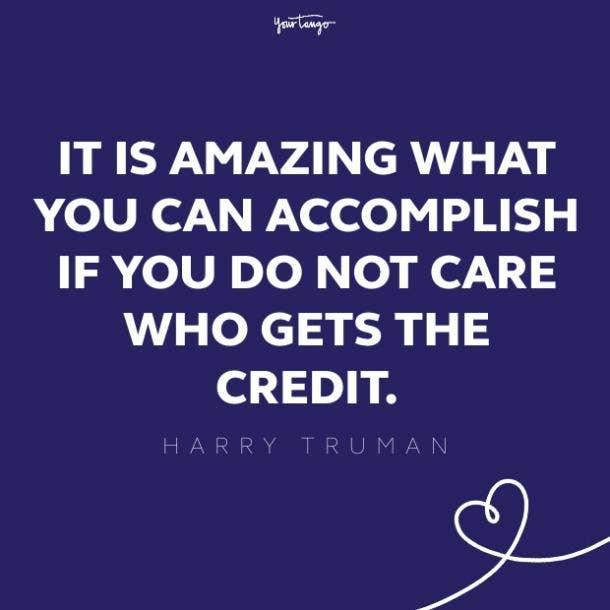 harry truman teamwork quote