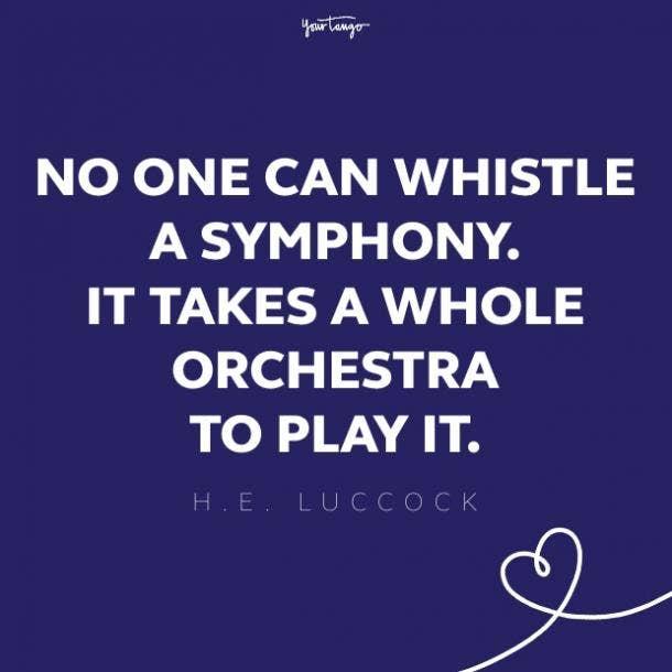 h.e. luccock teamwork quote