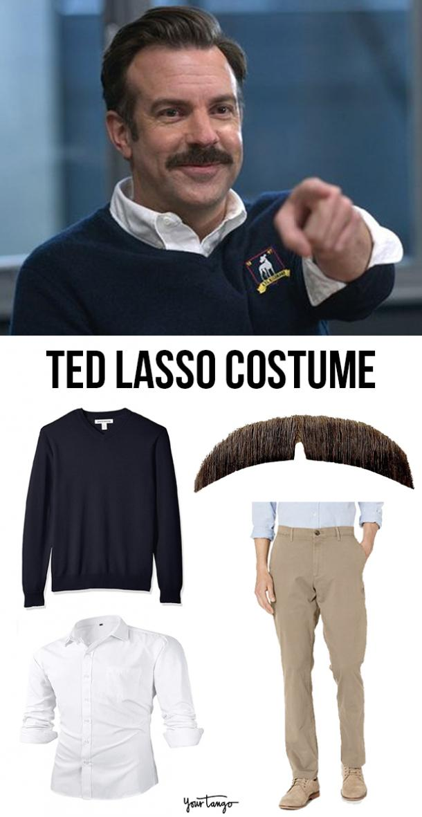 Ted Lasso Sweater Shirt and Khakis Costume