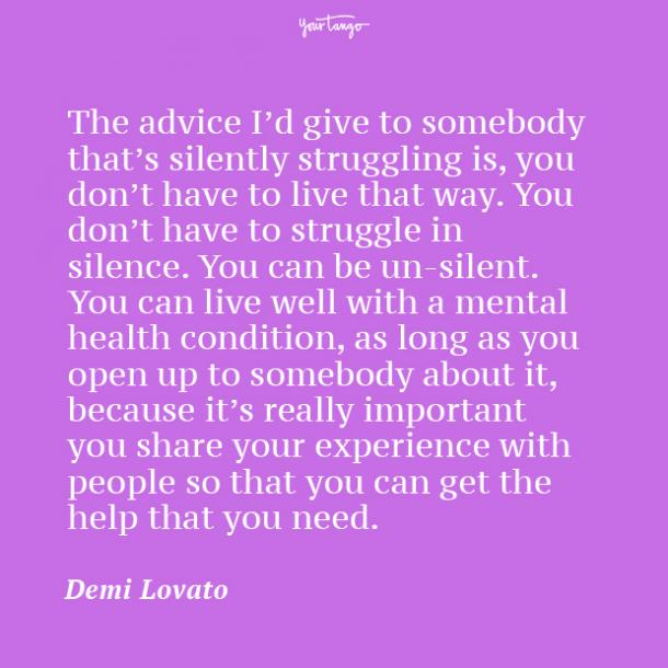 Demi Lovato mental health quote