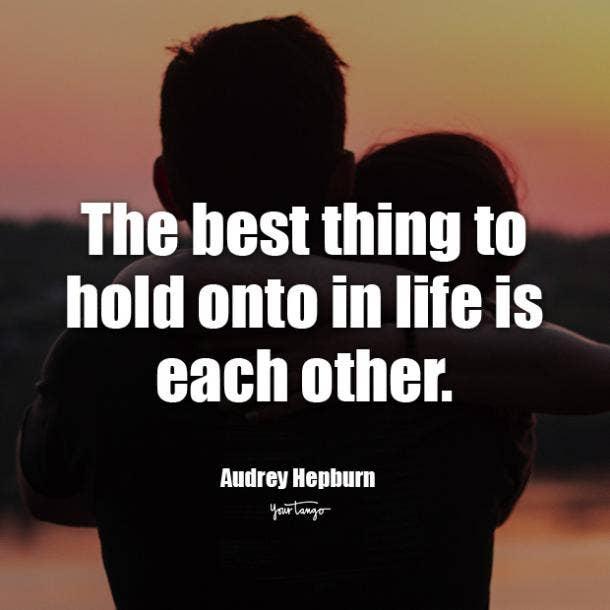 Audrey Hepburn i love you quote