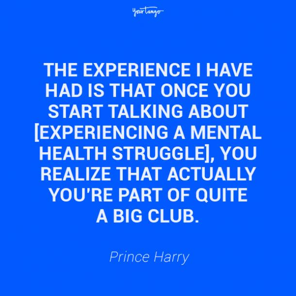 Prince Harry mental health quote