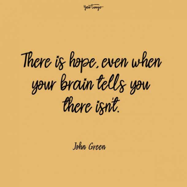 John Green mental health quote