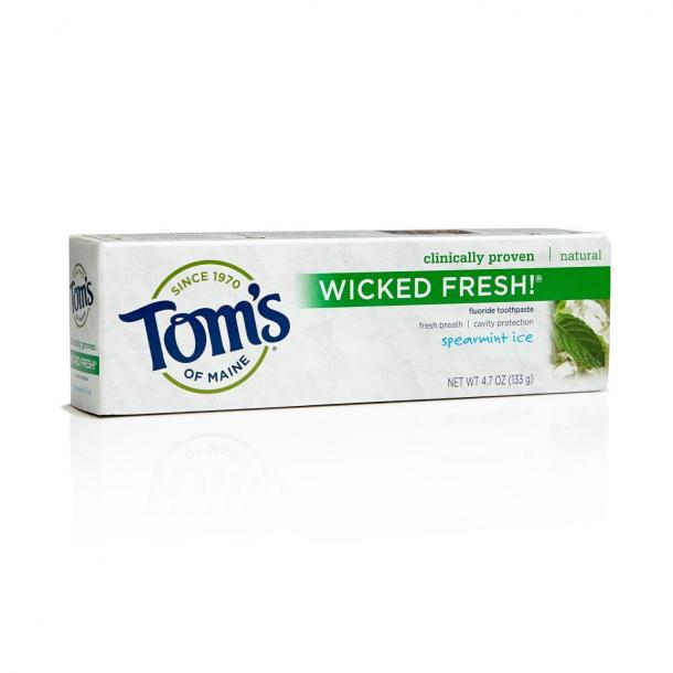 toothpaste for bad breath Tom's of Maine Ice Wicked Fresh! Flouride Toothpaste
