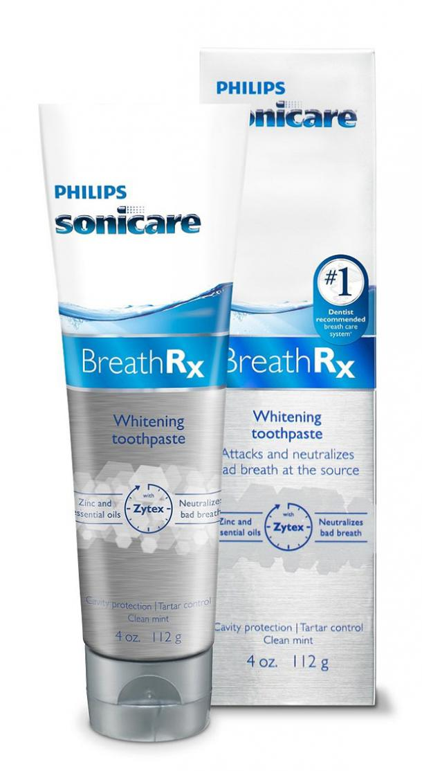 toothpaste for bad breath Philips Sonicare BreathRx Whitening Toothpaste