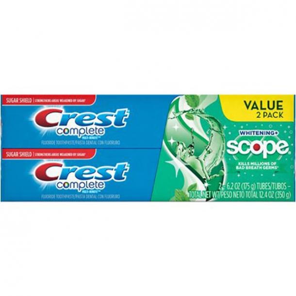 toothpaste for bad breath Crest + Scope Complete Whitening Toothpaste