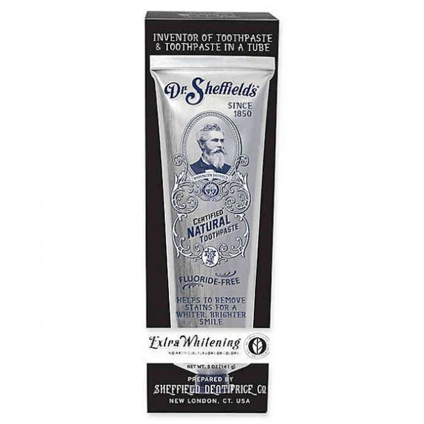 toothpaste for bad breath Dr. Sheffield's Premium Natural Extra Whitening Toothpaste