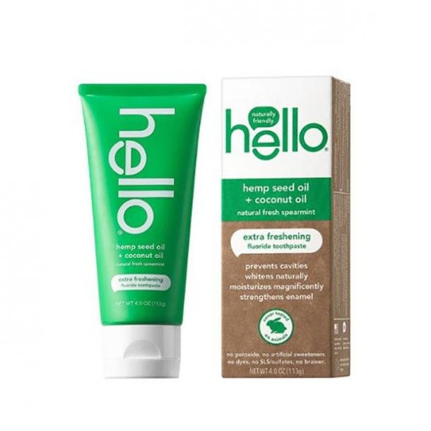 toothpaste for bad breath hello Hemp Seed Oil + Coconut Oil Extra Freshening Toothpaste