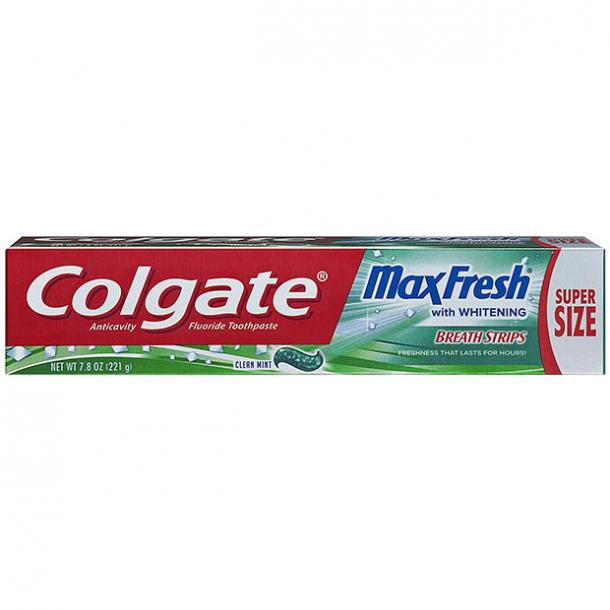 toothpaste for bad breath Colgate Max Fresh Toothpaste with Breath Strips