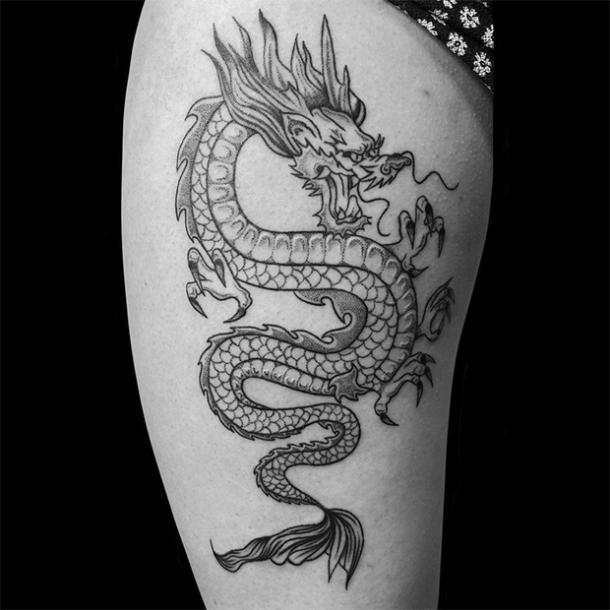 traditional Chinese dragon tattoo