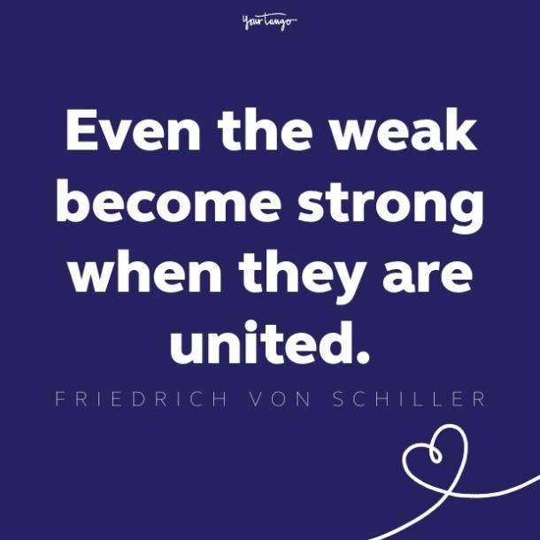 friedrich von schiller unity quote