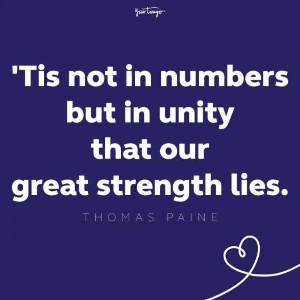 thomas paine unity quote