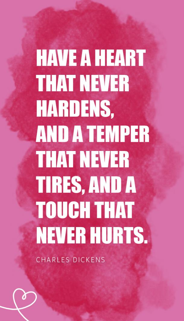 charles dickens valentines day quote