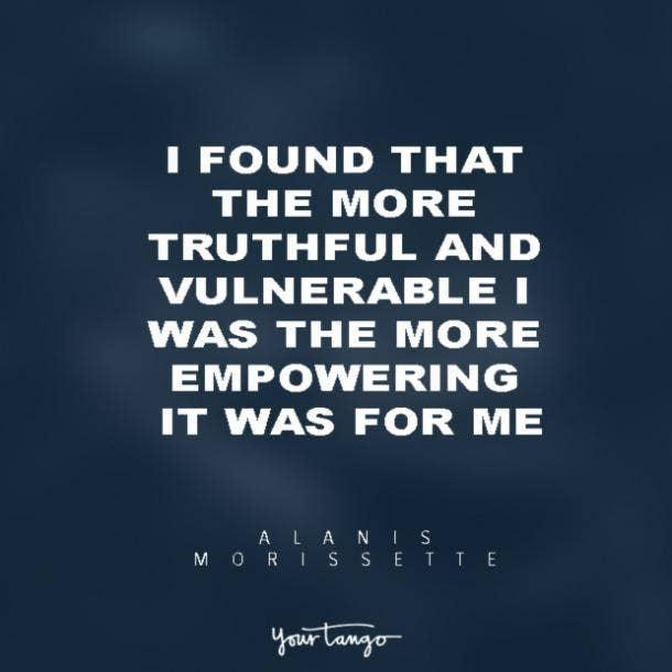 Alanis Morissette vulnerability quotes