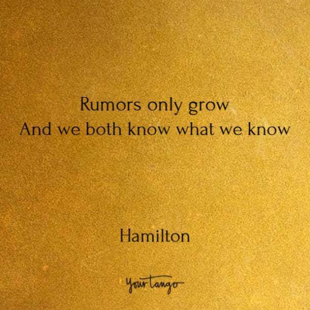 Quotes from Hamilton song lyrics
