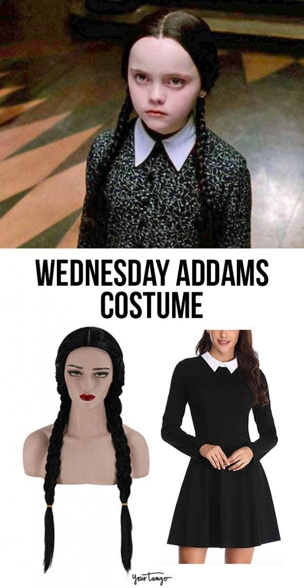 Wednesday Addams last minute halloween costumes