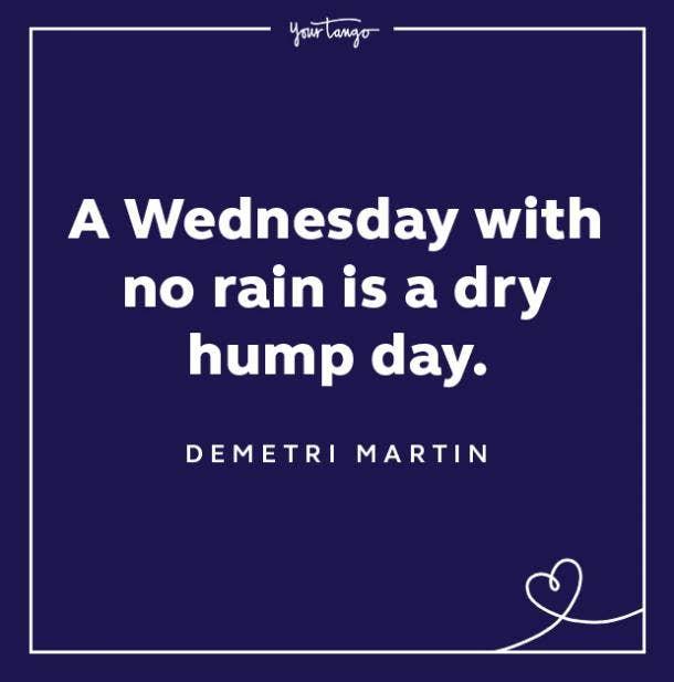 demetri martin wednesday quote hump day meme