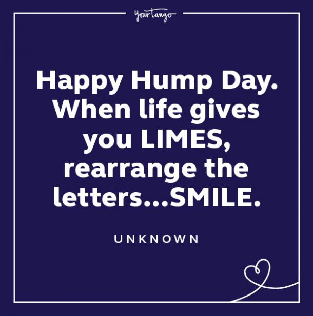 wednesday quote hump day meme