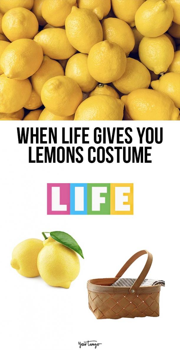 when life gives you lemons last minute halloween costumes