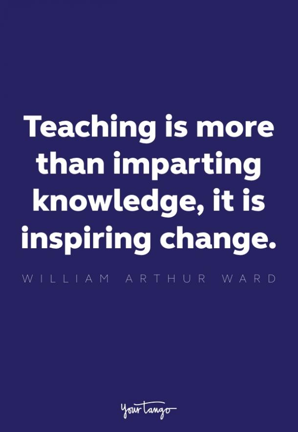 william arthur ward inspirational quote for teachers