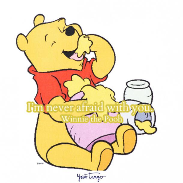 Winnie the Pooh quotes never afraid with you