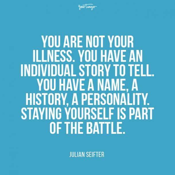 Julian Seifter mental health quote