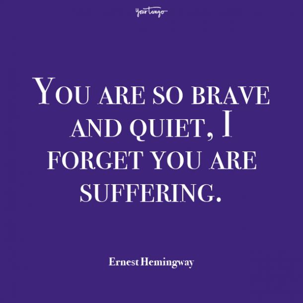 Ernest Hemingway mental health quote