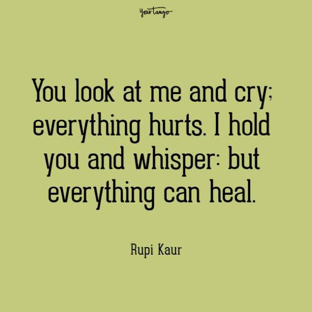 Rupi Kaur mental health quote
