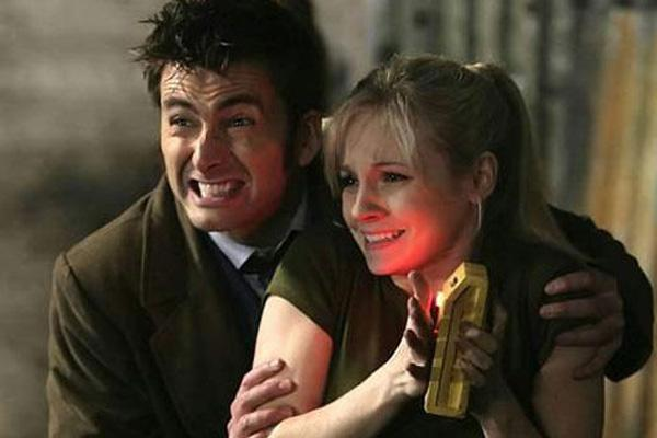 David Tennant and Georgia Moffett in Dr. Who