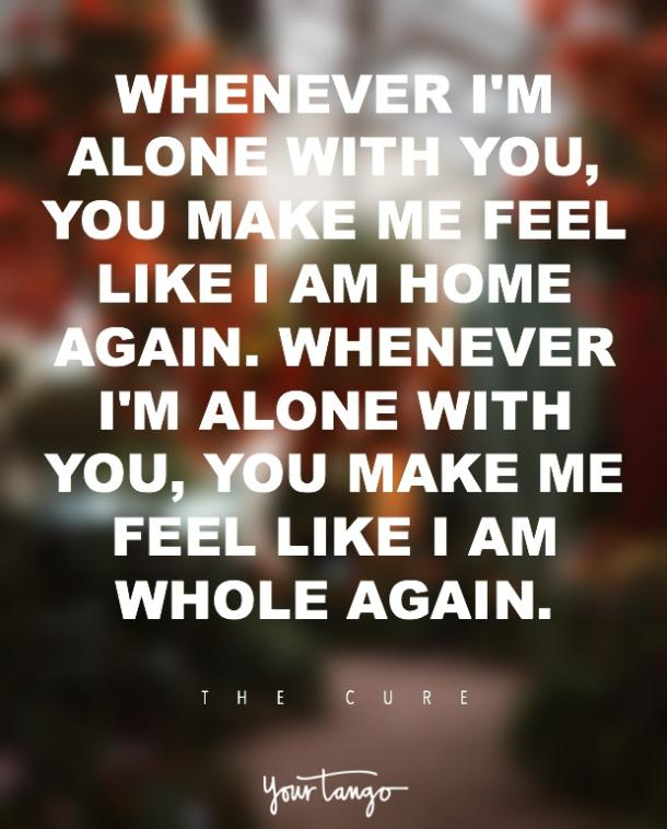 The Cure lovesong i love you quote