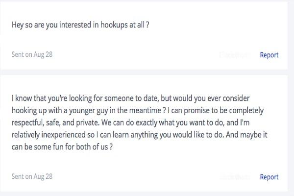 dating site message