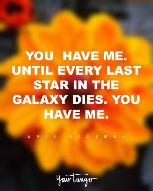 Amie Kaufman i love you quote