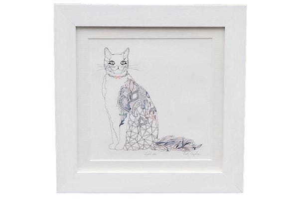 Dust-and-Silk-Cat-Giclee-Print, Cat-print, Cat-art, Cat-graphic