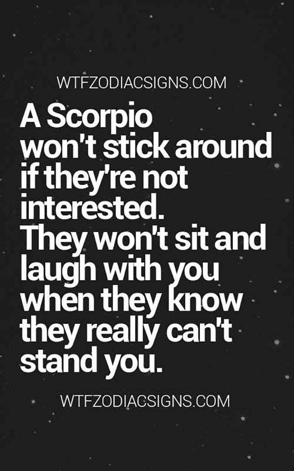 scorpio horoscope sayings