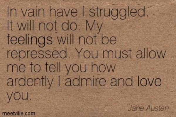 Jane Austen love quote